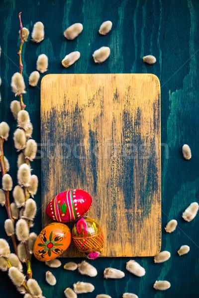ива яйца Пасху весны природы Сток-фото © fotoaloja