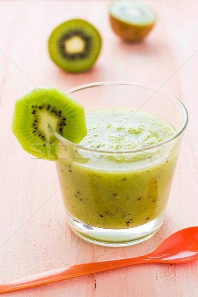 Zdrowa dieta kiwi drewniany stół owoców retro Zdjęcia stock © fotoaloja