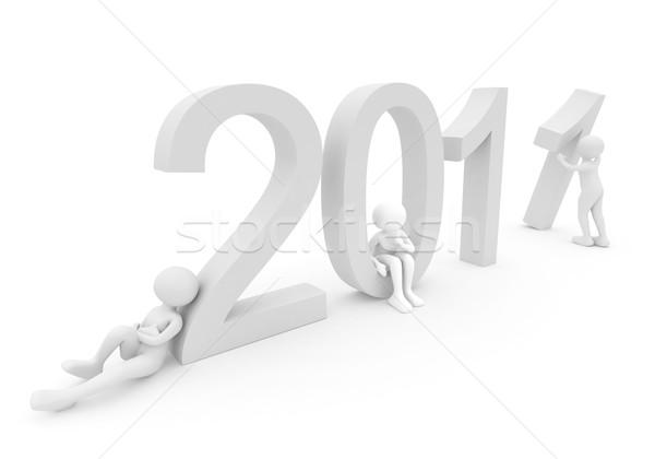 Personnes dates 2011 rendu 3d blanche personne Photo stock © fotoaloja