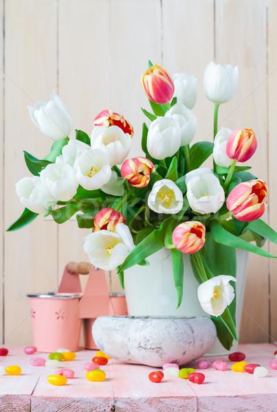 イースター 静物 花束 春 チューリップ 花 ストックフォト © fotoaloja