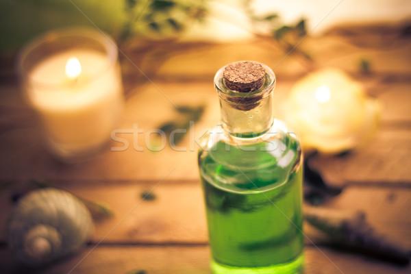 Corpo lozione aromatico candele spa salute Foto d'archivio © fotoaloja