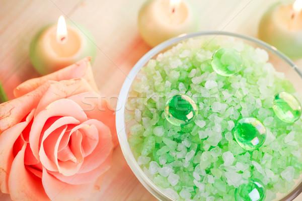 Sal banho bem-estar natureza saúde beleza Foto stock © fotoaloja