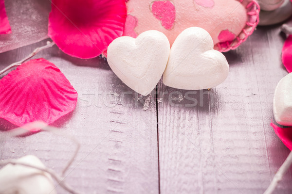 Stock photo: Spa composition Valentines Day heart love body health