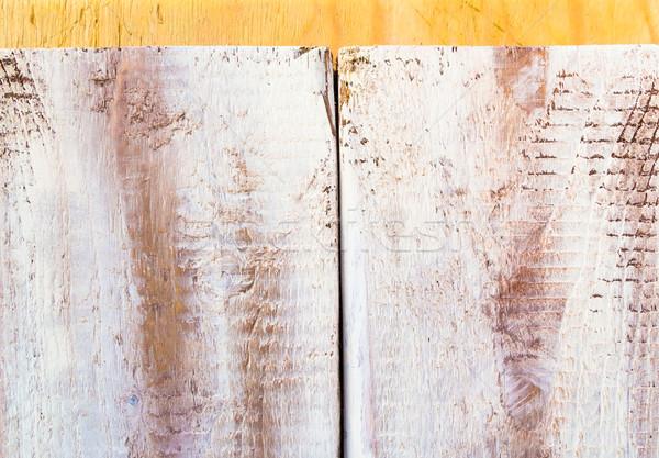 rough wooden plank painted white Stock photo © fotoaloja