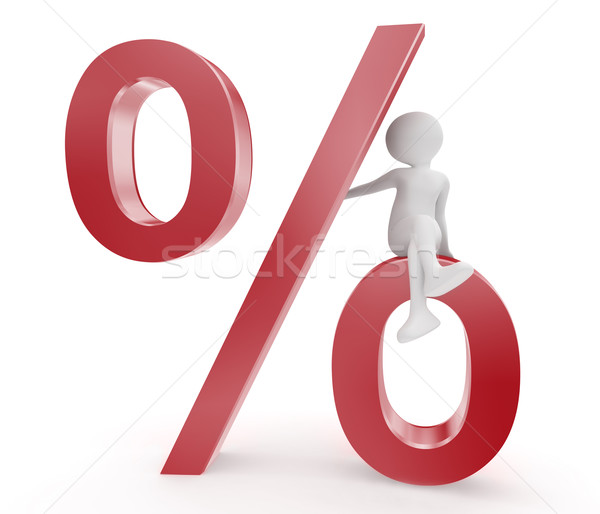 percent symbol and person Stock photo © fotoaloja