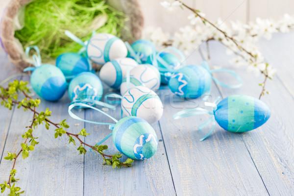 View easter eggs primavera rami fiore amore Foto d'archivio © fotoaloja