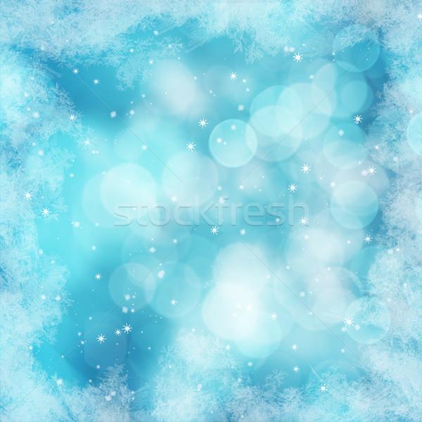 Kış grafik kar don metin projeler Stok fotoğraf © fotoaloja