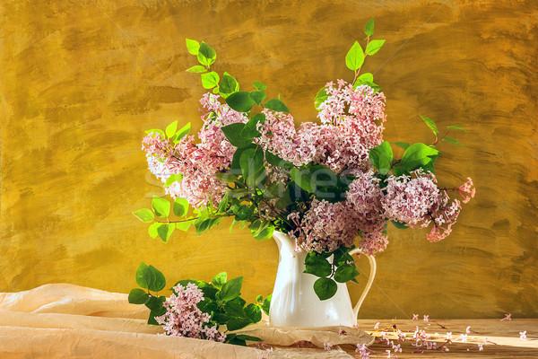 Still Life bouquet lilacs flowers bloom Stock photo © fotoaloja