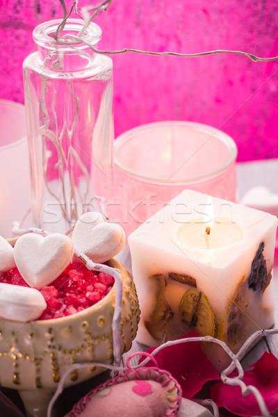 Spa composition Valentines Day heart love body health Stock photo © fotoaloja