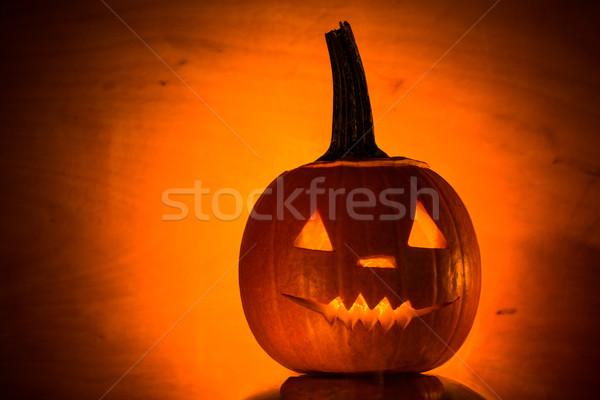 Lantaarns donkere licht boos gezicht Stockfoto © fotoaloja