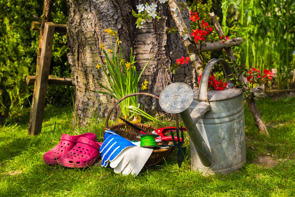 Stock photo: Tools equipment job spring garden