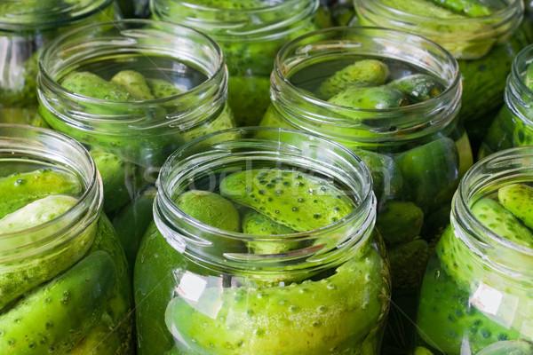 огурцы соленья овощей зеленый Сток-фото © fotoaloja