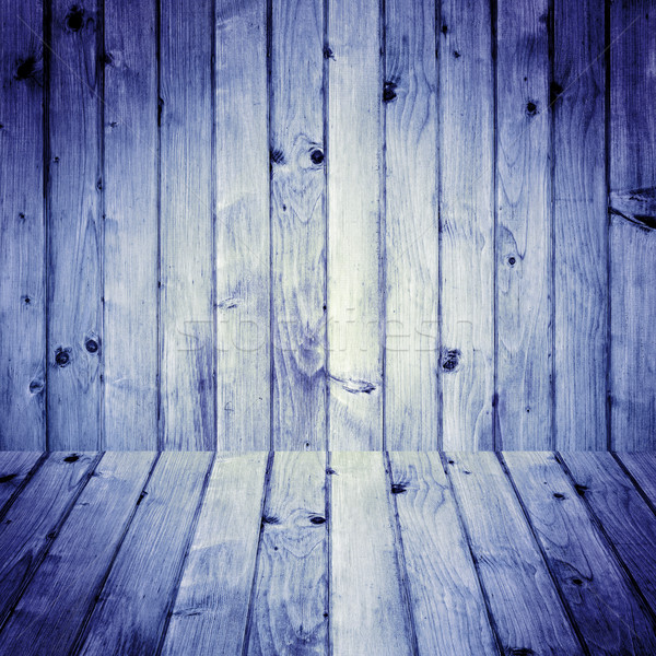 Stained wooden floor wall background Stock photo © fotoaloja