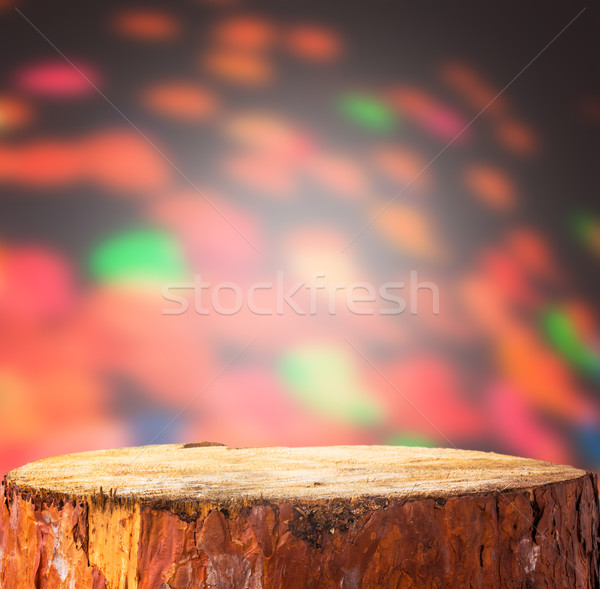 Christmas background light wooden trunk projects space text prod Stock photo © fotoaloja