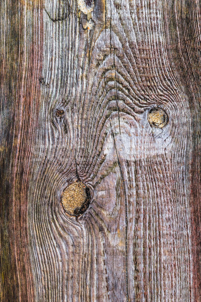 Stock photo: rough wooden plank visible discoloration knots