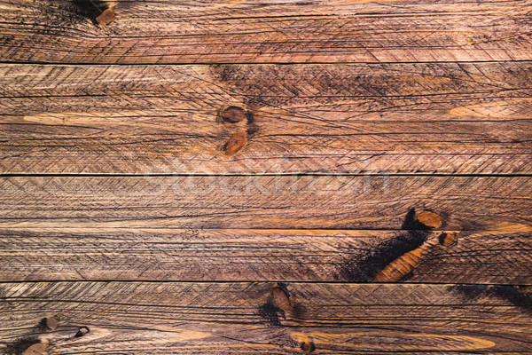 wall wooden planks painted brown Stock photo © fotoaloja