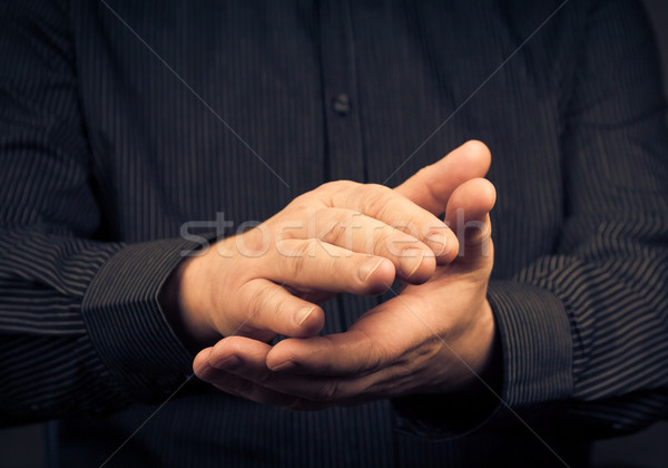man expressing their appreciation clapping hands Stock photo © fotoaloja