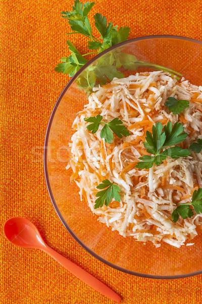 Zeller répák étel saláta petrezselyem zöldség Stock fotó © fotoaloja