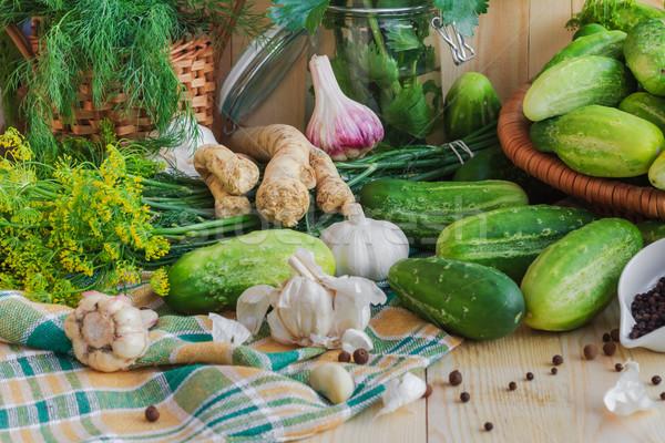 Cetrioli componenti farm mercato impianto Foto d'archivio © fotoaloja
