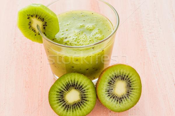 Dieta sana kiwi tavolo in legno frutta retro Foto d'archivio © fotoaloja