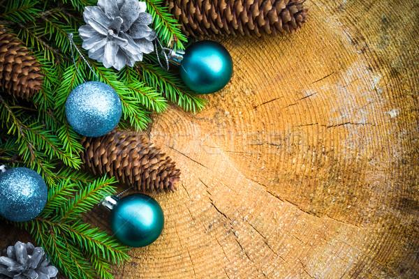 Choinka wystroić sosny christmas Zdjęcia stock © fotoaloja