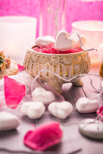 Spa saint valentin coeur amour corps Photo stock © fotoaloja