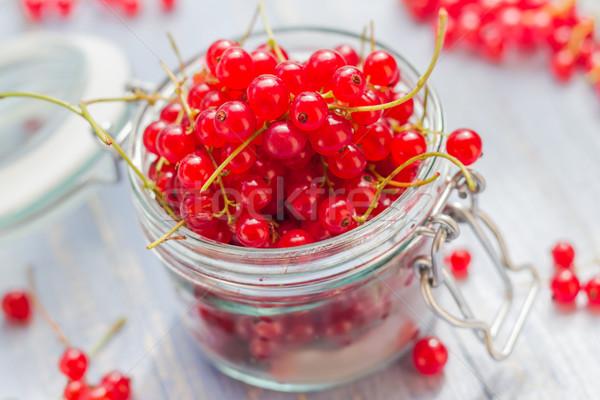 Preparation products processed fresh colorful summer fruits jars Stock photo © fotoaloja