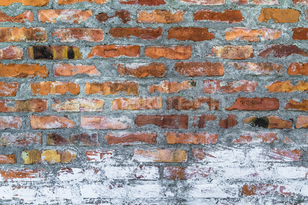 old defense wall red bricks Stock photo © fotoaloja