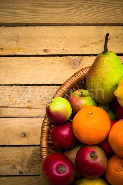 Fruits vintage bois automne alimentaire nature Photo stock © fotoaloja