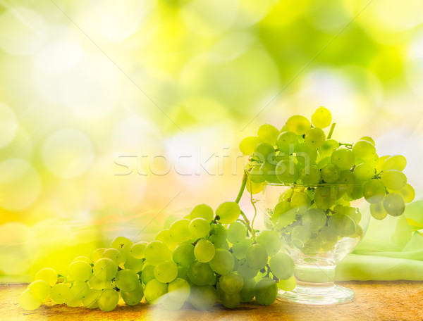 Bunches grapes glare sun Stock photo © fotoaloja