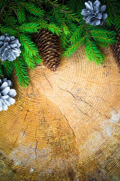 árvore de natal enfeitar pinho natal fundo Foto stock © fotoaloja