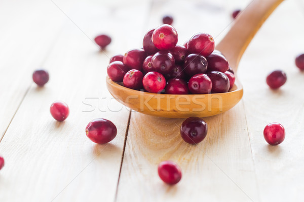 Foto stock: Cuchara · de · madera · Berry · frutas · salud
