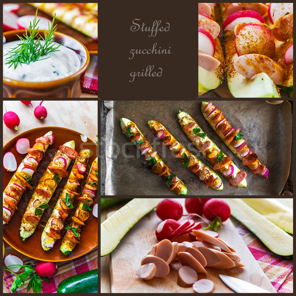 Stok fotoğraf: ızgara · kabak · hazırlık · gıda · restoran