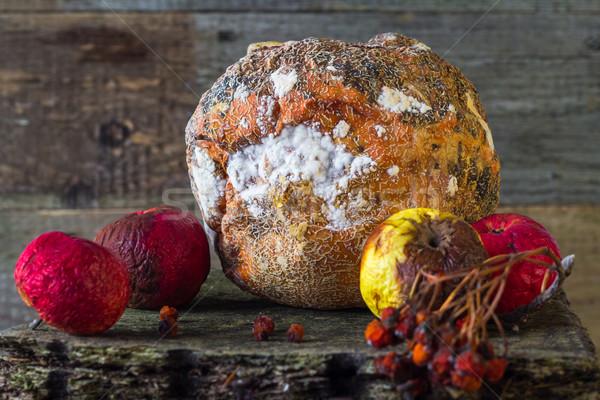 Marcio frutta vecchio legno natura Foto d'archivio © fotoaloja