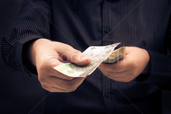person counting certain amount money Stock photo © fotoaloja