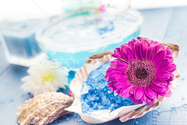 Fürdő aromás virág fürdősó egészség asztal Stock fotó © fotoaloja