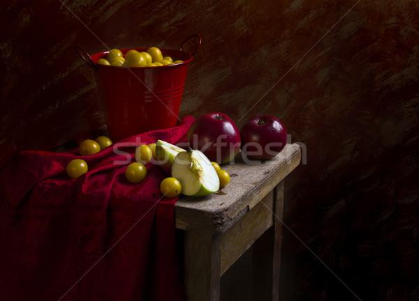 Still life fruit apples plums mirabelle Stock photo © fotoaloja