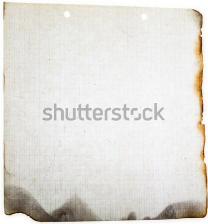 charred old paper card grunge Stock photo © fotoaloja