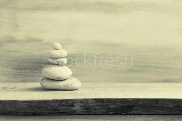 Zen taşlar doğa sağlık Stok fotoğraf © fotoaloja