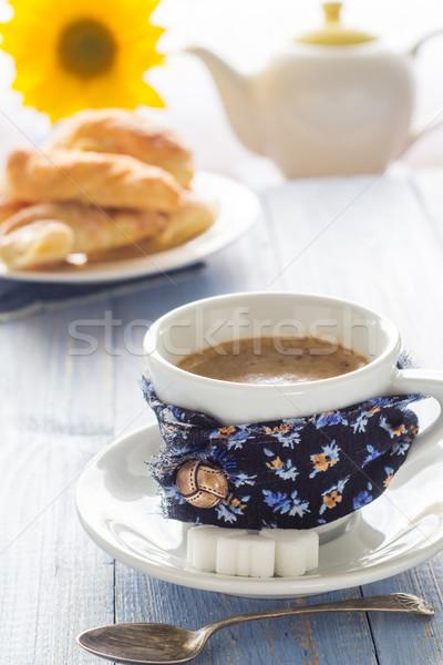 Taza de café negro marrón blanco jarra Foto stock © fotoaloja