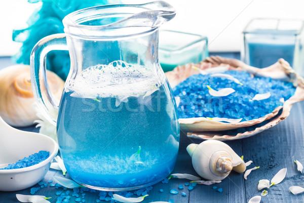Relajante spa bano aromático sal conchas Foto stock © fotoaloja