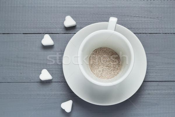 Copo café preparado água inundação amor Foto stock © fotoaloja