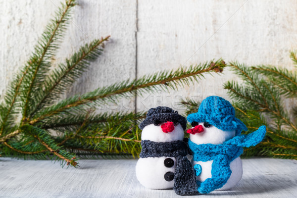 Stockfoto: Boord · houten · christmas · winter · pluche · zachte