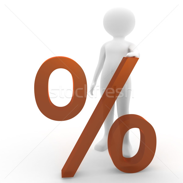 person with percent symbol Stock photo © fotoaloja