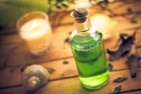 Corps lotion aromatique bougies spa santé Photo stock © fotoaloja