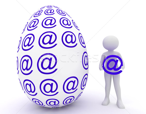 female and easter egg in email Stock photo © fotoaloja