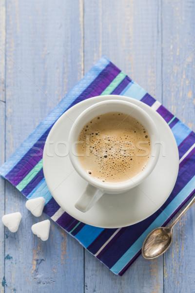 Tazza di caffè nero latte rosolare bianco Foto d'archivio © fotoaloja