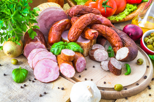 Wybór mięsa produktów warzyw charakter zdrowia Zdjęcia stock © fotoaloja