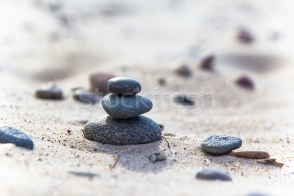 beach sea stone stones closeup sand Stock photo © fotoaloja