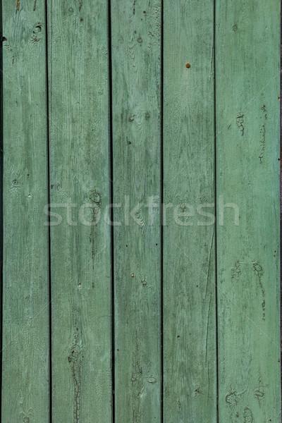 Stock fotó: Fal · fából · készült · deszkák · festett · zöld · textúra